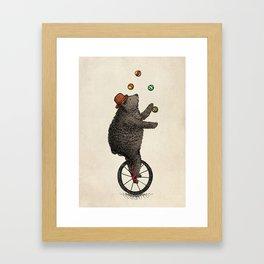 The Juggler (color option) Framed Art Print