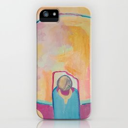 Kid Spaceman and Toy Spaceman iPhone Case