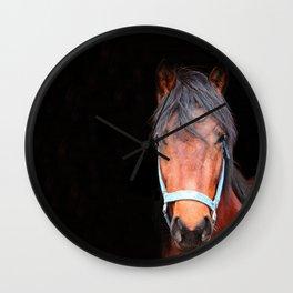 Mustang Photography Print Wall Clock