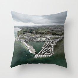 Flood Resilient Townscape - Par Docks Throw Pillow