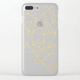 Ultra Purple Geo Clear iPhone Case