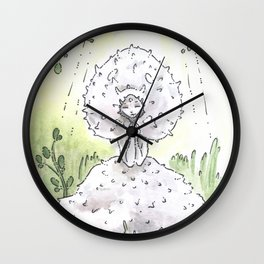 Empire of Mushrooms: Lycoperdon perlatum Wall Clock