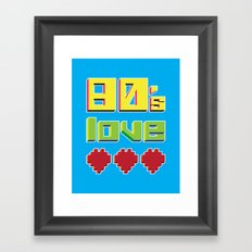 Eighties Love Framed Art Print