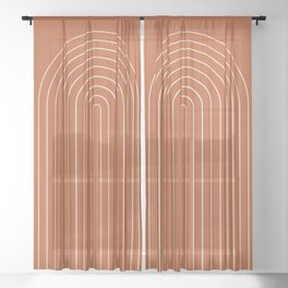 Minimalist Arch XX Sheer Curtain