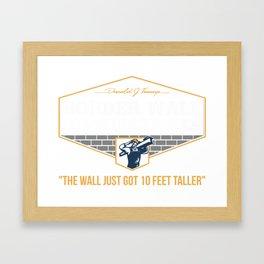 Donald Trump border wall construction company Framed Art Print