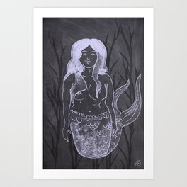 Chalky Mermaid Art Print