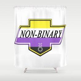 Identity Stamp: Non Binary Shower Curtain