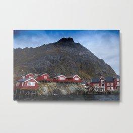 Houses in the Lofoten Metal Print