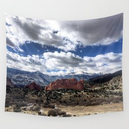 Pikes Peak in Colorado Springs Wall Tapestry