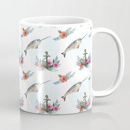 Summertime Nautical Narwhal Coffee Mug
