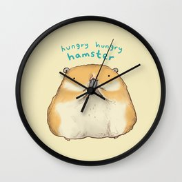 Hungry Hungry Hamster Wall Clock