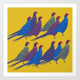 Pheasants Art Print