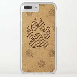 Wolf Paws Clear iPhone Case