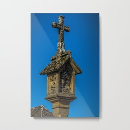 Market Cross Stow on the Wold Market Square Cotswolds England Metal Print