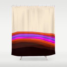 Orange, Purple, and Cream Abstract Shower Curtain