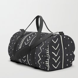 Moroccan Stripe in Black and White Duffle Bag