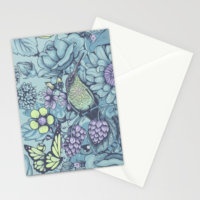 Beauty (eye of the beholder) - aqua version Stationery Cards