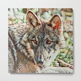 Toony Wolf Metal Print