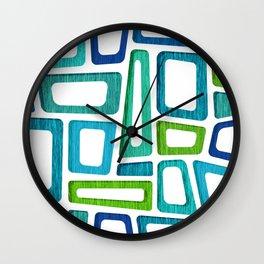 Mid Century Boxy Abstract Wall Clock