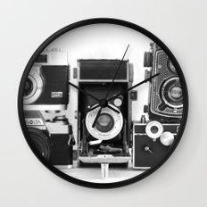 Vintage Camera Collection Wall Clock