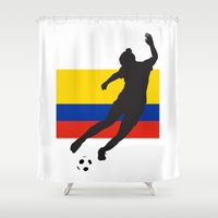 colombia Shower Curtains featuring Colombia - WWC by Alrkeaton