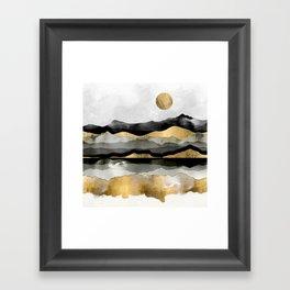 Golden Spring Moon Framed Art Print