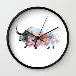 Wild yak 2 / Abstract animal portrait. Wall Clock