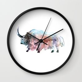Wild yak 2 / Abstract animal portrait. Wall Clock
