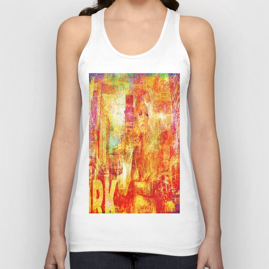 Girl in New-York  Unisex Tank Top