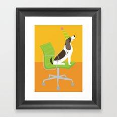 Dog on an Eames Chair for Handsome Devil Press Framed Art Print