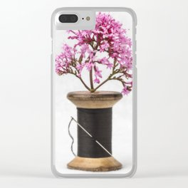 Wooden Vase Clear iPhone Case