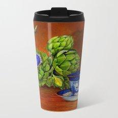 Teacup with Artichokes Metal Travel Mug