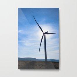 Turbine in Sun Metal Print