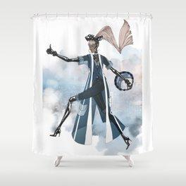 Blue New York City Shower Curtain