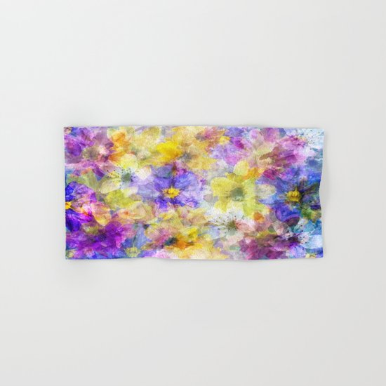 Multicolor Painterly Floral Abstract Hand & Bath Towel