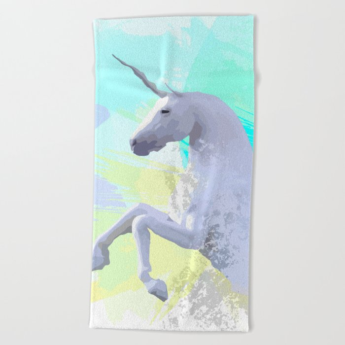 Magic Unicorn I Beach Towel