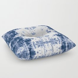 Shibori Tie Dye 5 Indigo Blue Floor Pillow