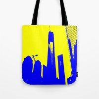 metropolis Tote Bags featuring Metropolis by osile ignacio