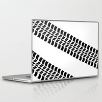 truck Laptop & iPad Skins featuring Tyre Truck by Arhipelago