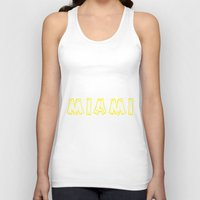 miami Tank Tops featuring MIAMI by junaputra