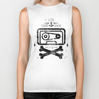 tape Biker Tanks featuring Pirate Tape by melted