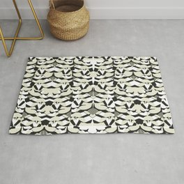 Abstract Geometric Pattern in Constrast Colors Rug
