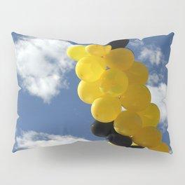 Yellow Black Ballons Pillow Sham