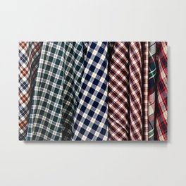 Abstract Of Lumberjack Checkered Textile Of A Variety Of Colors Metal Print