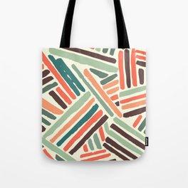 Color stitch Tote Bag