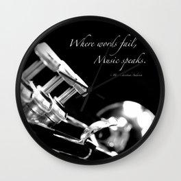 Music Speaks Wall Clock
