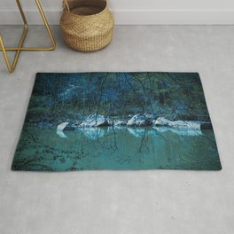 Early Blue Morning Rug