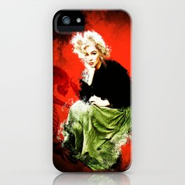 Marilyn with Skeleton iPhone Case