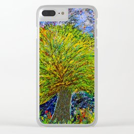 """""""The Mysterious Tree"""" Clear iPhone Case"""
