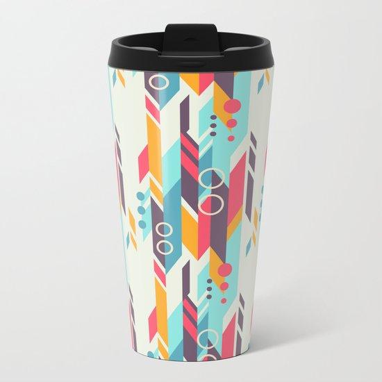 Geometri pattern Metal Travel Mug